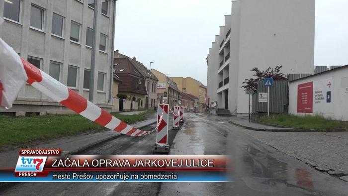 Začala rekonštrukcia Jarkovej ulice