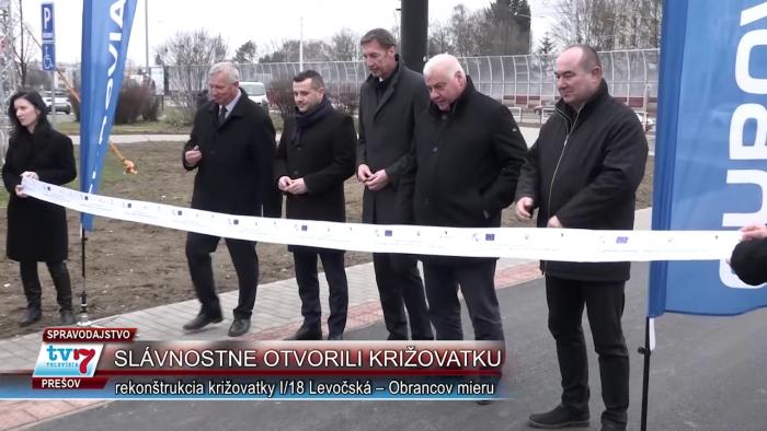 Otvorili križovatku Levočská a Obrancov mieru
