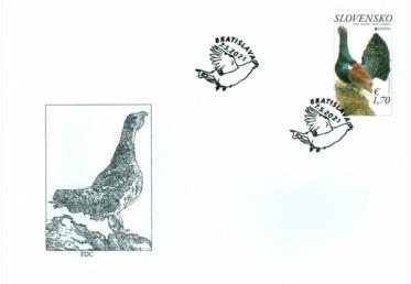 Tetrov hlucháň na známke