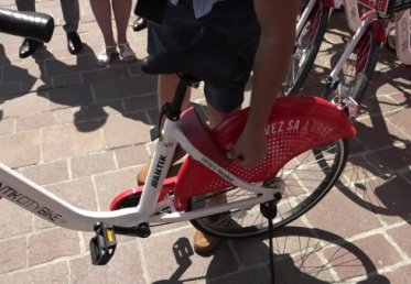 Poškodený verejný bicykel